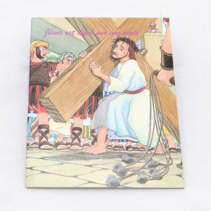 5032 French Jesus est cloue sur une croi-0