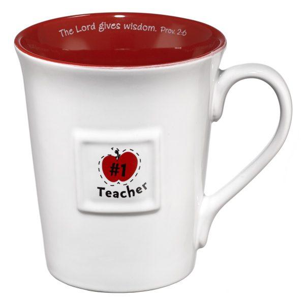 Teacher/Prov. 2:6 (Red) Ceramic Mug-0