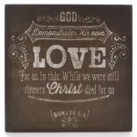 Chalkboard Collection: Love Wooden Wall Dec?r Plaque-0