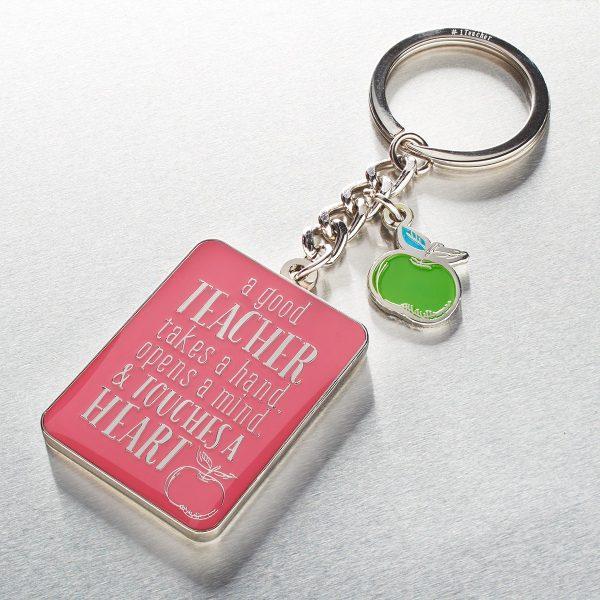 Keyring/Tin Teacher Pink 1 Cor 16:14-0