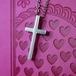 SMALL GEOMETRIC CROSS NECKLACE-0